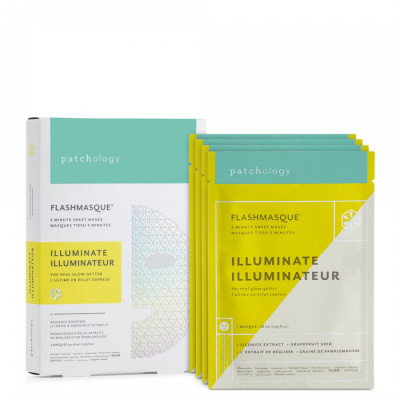 Маска для Сияния Кожи Patchology FlashMasque Illuminate 5 Minute Sheet Mask 4 шт