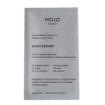Шоколад Кешью с Чёрным Кунжутом Mojo Cacao Black Sesame 20 г