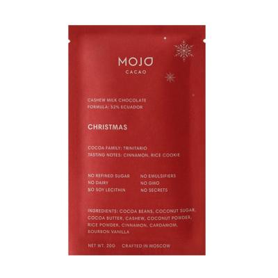 Тёмный Шоколад 52% Кешью с Корицей и Кардамоном Mojo Cacao Christmas 20 г