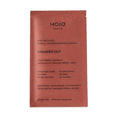 Горький Шоколад 70% с Перцем и Солью Mojo Cacao Habanero Salt 20 г