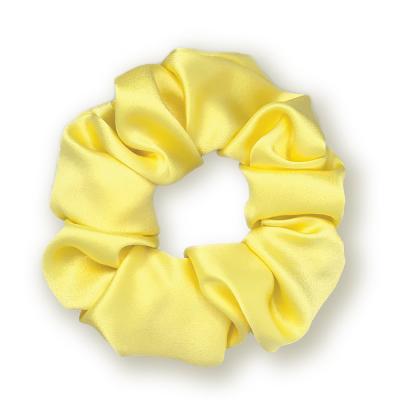 Объемная Резинка для Волос из Натурального Шелка Жёлтая Mon Mou