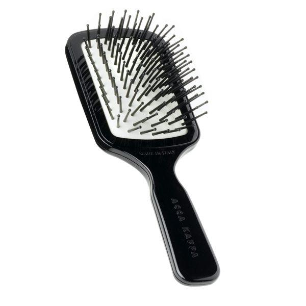 Щетка для Волос Пластиковая, Черная L18 Acca Kappa Pneumatic 18 см