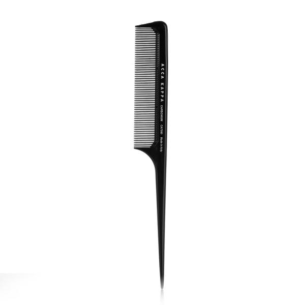 Расческа для Волос Карбоновая с Острой Ручкой Acca Kappa Carbonium Combs 22 см