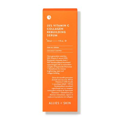 Сыворотка с Витамином C для Лица Allies Of Skin Vitamin C 35% Collagen Rebuilding Serum 30 мл
