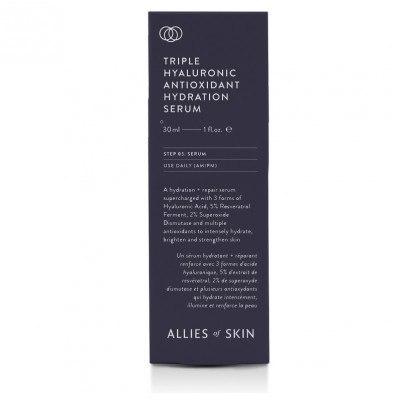 Дневная Сыворотка для Лица Allies Of Skin Triple Hyaluronic Antioxidant Hydration Serum 30 мл