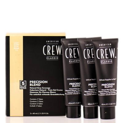 Система Маскировки Седины (Уровень 7-8)  American Crew Precision Blend Light 3x40 мл