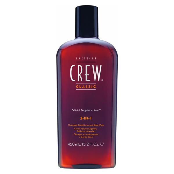 3-в-1 Средство по Уходу за Волосами и Телом American Crew Shampoo, conditioner and body wash 450 мл