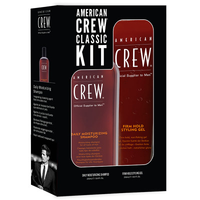 Набор American Crew Holiday Classic Man Duo 1 (Daily Moisturizing Shampoo 250 мл + Firm Hold Gel 250 мл)