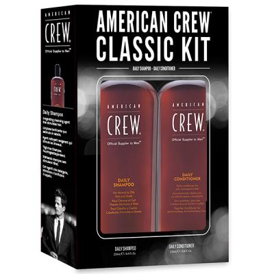 Набор American Crew Holiday Classic Man Duo 1 (Шампунь для Ежедневного Использования Daily Shampoo 250 мл + Кондиционер для Ежедневного Использования Daily Conditioner 250 мл) NEW