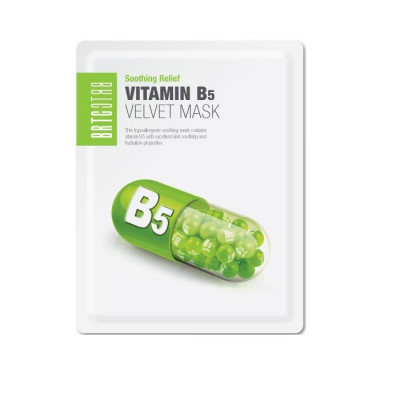 Восстанавливающая Тканевая Маска с Витамином B5 BRTC Vitamin B5 Velvet Mask 25 г