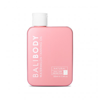 Масло для Загара Арбуз с Фактором Защиты от Солнечных Лучей Bali Body Watermelon Tanning Oil SPF15 100 мл