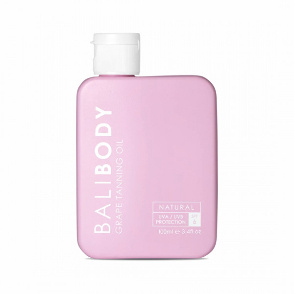 Виноградное Масло для Загара c Защитой SPF6 Bali Body Grape Tanning Oil 100 мл