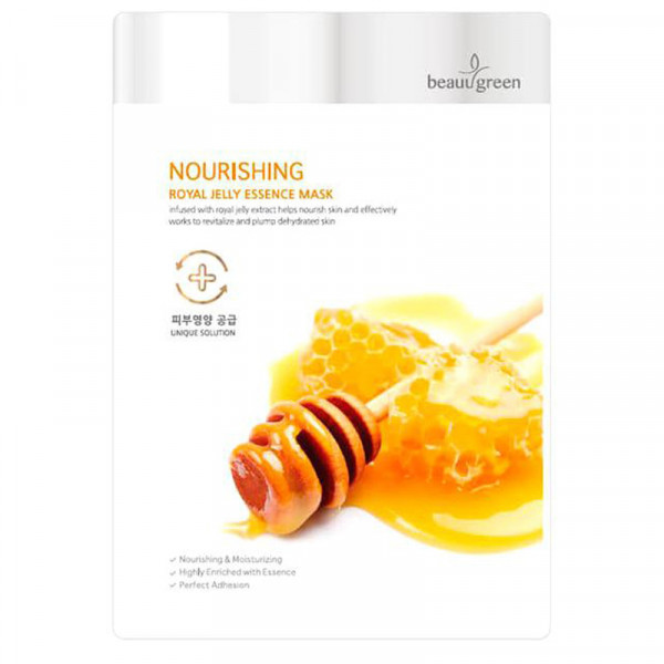 Питательная Тканевая Маска для Лица с Маточным Молочком BeauuGreen Nourishing Royal Jelly Essence Mask 23 г
