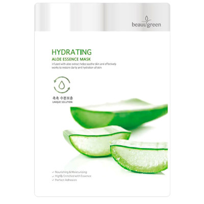 Тканевая Маска для Лица с Экстрактом Сока Алоэ BeauuGreen Hydrating Aloe Essence Mask 23 г