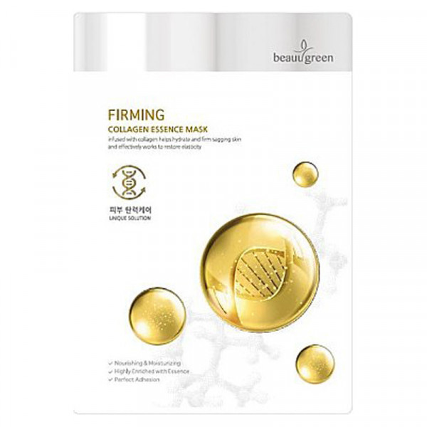 Тканевая Маска для Лица на Основе Морского Коллагена BeauuGreen Premium Firming Collagen Essence Mask  23 г