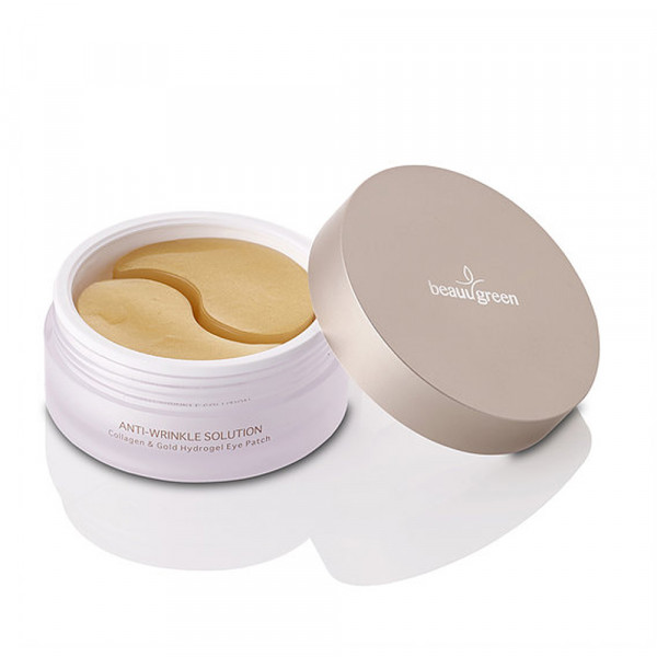 Гидрогелевые Патчи Большого Размера BeauuGreen Collagen & Gold Hydrogel Eye Patch 60 шт