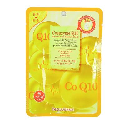 Тканевая 3D-Маска для Лица с Коэнзимом Q10 Beauugreen Contour 3d Coenzym Q10 Essence Mask 23 мл