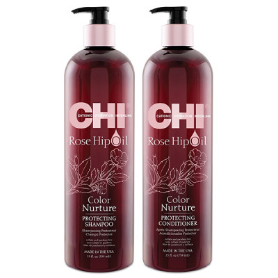 CHI Rose Hip Protecting Shampoo 750 мл + Conditioner 750 мл