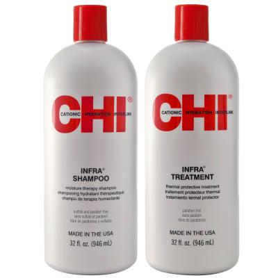 Набор для Увлажнения и Питания Волос CHI Infra (Шампунь 950 мл + Термозащитная Маска 950 мл)