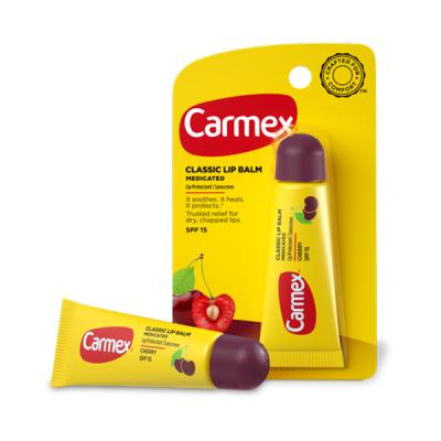 Бальзам для Губ Carmex Lip Balm Tube Cherry SPF 15 с Ароматом Вишни в Тубе 10 г