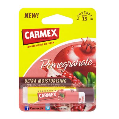 Бальзам для Губ Carmex Lip Balm Stick SPF 15 Pomegranate с Ароматом Граната в Стике 4.25 г