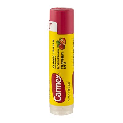 Бальзам для Губ Carmex Lip Balm Stick SPF 15 Strawberry с Ароматом Клубники в Стике 4.25 г