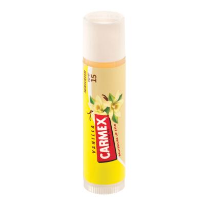 Бальзам для Губ Carmex Lip Balm Stick SPF 15 Vanilla с Ароматом Ванили в Стике 4.25 г