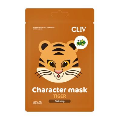 "Успокаивающая Тканевая Маска ""Тигренок"" CLIV Character Mask Tiger Calming 20 мл"