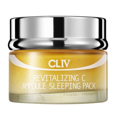 Ночная Витаминизирующая Маска с Витамином C для Сияния Кожи Лица CLIV Revitalizing C Ampoule Sleeping Pack 100 мл