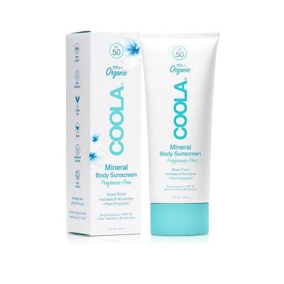 Минеральный Солнцезащитный Крем для Тела (без Запаха) SPF 50 Coola Mineral Body Sunscreen Lotion Fragrance-Free 148 мл