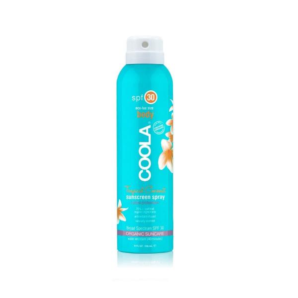 Солнцезащитный Спрей для Тела (Кокос) SPF 30 Coola Classic Body Organic Sunscreen Spray Tropical Coconut 236 мл