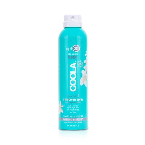 Солнцезащитный Спрей для Тела (без Запаха) SPF 30 Coola Classic Body Organic Sunscreen Spray Fragrance-Free 236 мл