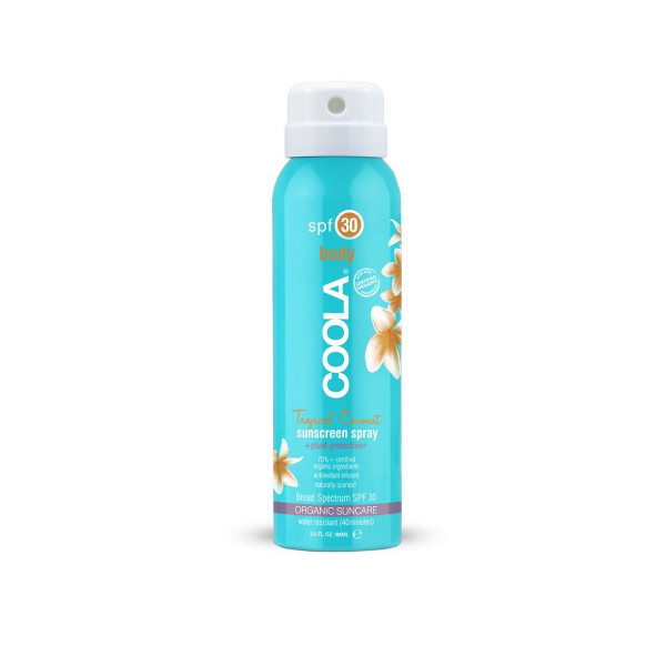 Солнцезащитный Спрей для Тела (Кокос) SPF 30 Coola Travel Size Classic Body Organic Sunscreen Spray Tropical Coconut 90 мл