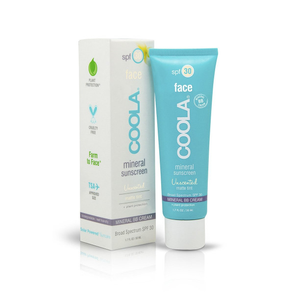 Солнцезащитный Матирующий Крем для Лица без Запаха с Тональным Эффектом SPF30 COOLA Mineral Face Matte Tint Moisturizer 50 мл