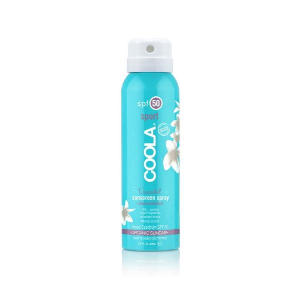 Солнцезащитный Спрей для Тела (без Запаха) SPF 50 Coola Travel Size Classic Body Organic Sunscreen Spray Fragrance-Free 90 мл