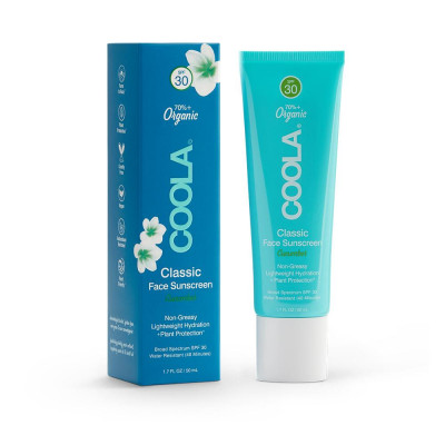 Солнцезащитный Крем для Лица (Огурец) SPF 30 Coola Classic Face Organic Sunscreen Lotion – Cucumber 50 мл