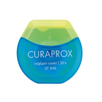 Нить Межзубная Эластичная из Микроволокна для Имплантов DF 846 Curaprox Implant Saver