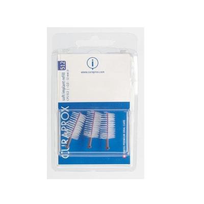 Набор Межзубных Ёршиков для Имплантов CPS 512 Curaprox Soft Implant, 12 мм 5 шт