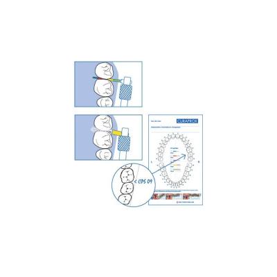 Набор Межзубных Ёршиков CPS Perio с Держателем UHS 409 125 шт и Зондом 24 шт Curaprox CPS Chairside Box Perio