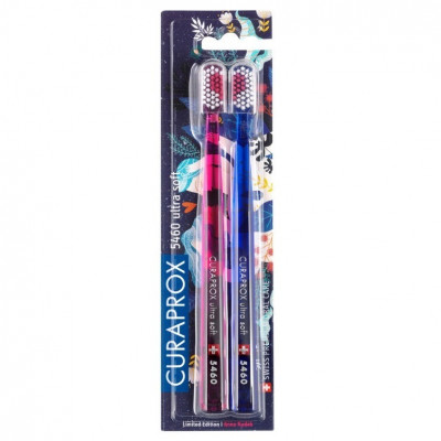 "Набор Зубных Щёток Curaprox Duo Love Edition ""Ultra Soft"" (d 0,10 мм) 2 шт"
