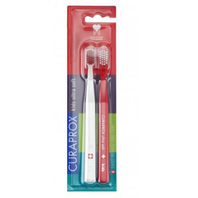 Набор Детских Зубных Щёток (5-12 Лет) Curaprox CS Kids Swiss School Edition 2 шт