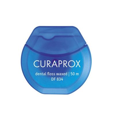 Нить Межзубная Вощеная с Мятным Вкусом Curaprox Dental Floss Waxed 50 м