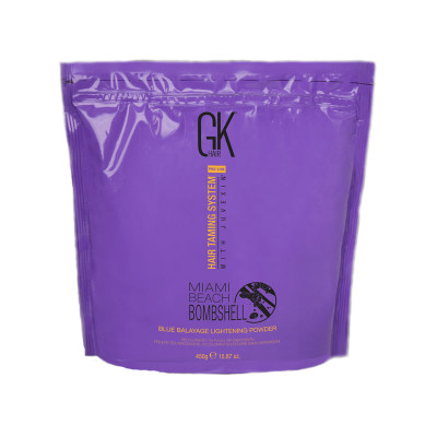 Осветляющая Пудра для Балаяжа Global Keratin Miami Beach Bombshell Blue Balayage Lightening Powder 450 г