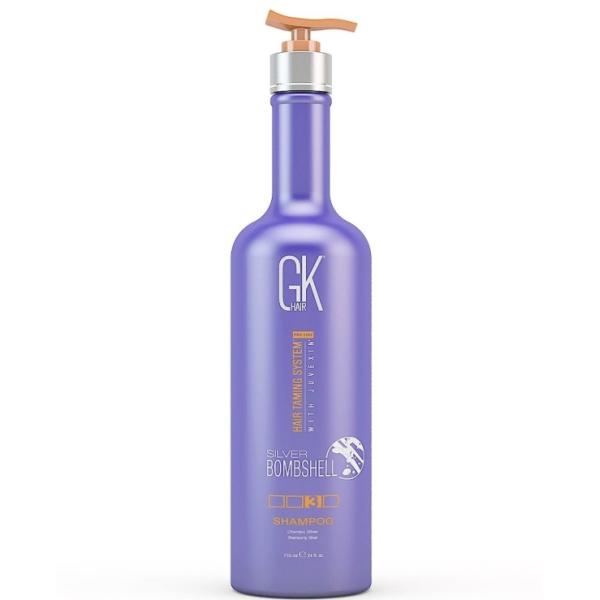 Серебряный Шампунь для Блондированных Волос Global Keratin Silver Bombshell Shampoo 710 мл