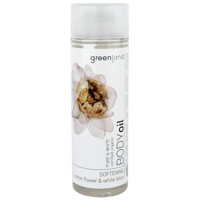 Масло для Тела  «Хлопок-Белый Лотос» Greenland Pure & White body oil cotton flower-white lotus 150 мл