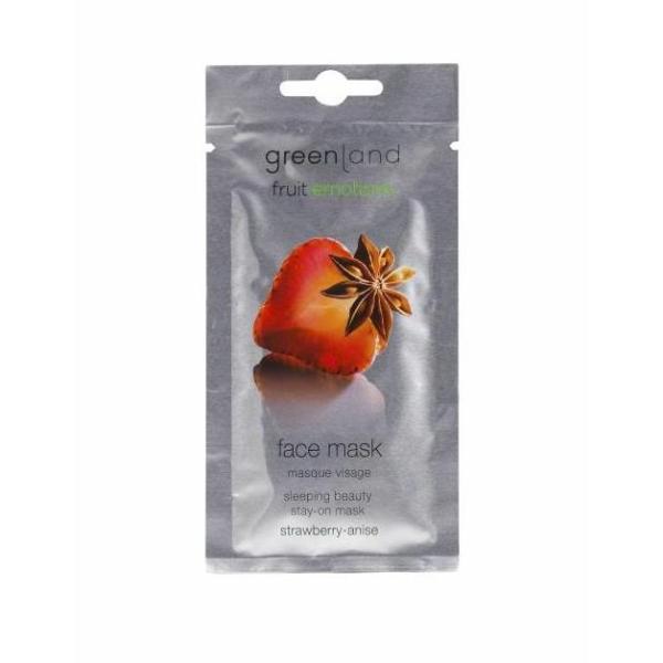 Ночная Маска для Лица Клубника-Анис Greenland Face Mask Strawberry-Anise 7 мл