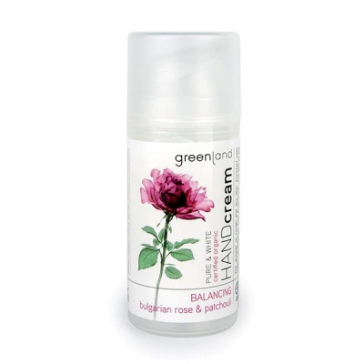 Крем для Рук «Болгарская Роза-Пачули» Greenland Pure & White hand cream bulgarian rose-patchouli 100 мл