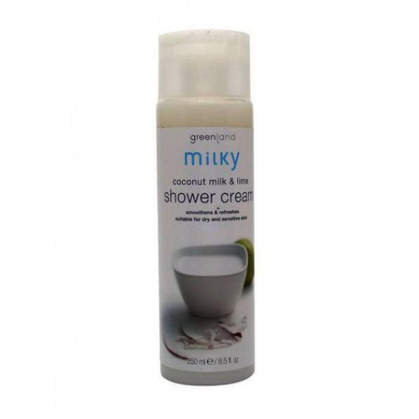Крем для Душа Кокосовое Молочко-Лайм Greenland Shower Cream Coconut Milk-Lime 250 мл