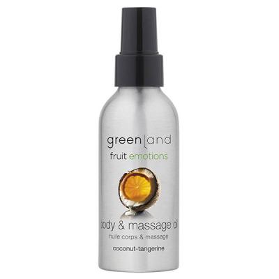 Масло для Массажа «Кокос-Мандарин» Greenland Fruit Emotions massage oil coconut-tangarine 120 мл