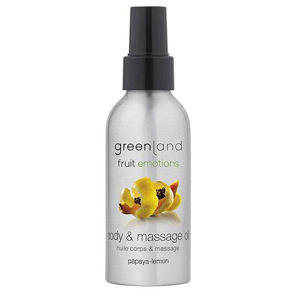 Масло для Массажа «Папайя-Лимон» Greenland Fruit Emotions massage oil papaya-lemon 120 мл